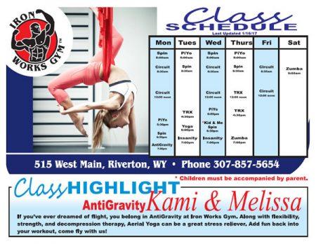 Classes Schedule 1-16-17